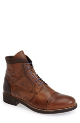 Bacco Bucci 'Lorenzi' Cap Toe Boot Men Tan