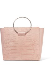 Little Liffner Ring Croc Effect Leather Tote Blush