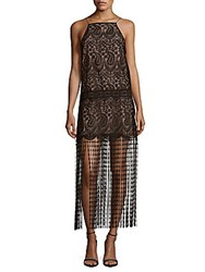Nicole Miller Paisley Pattern Halter Dress Black