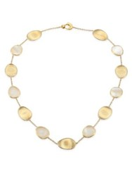 Marco Bicego Lunaria Mother Of Pearl And 18K Yellow Gold Necklace Gold Pearl