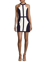 Finders Keepers Colorblock Sleeveless Shift Dress Navy White