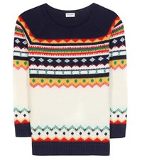 Saint Laurent Wool And Mohair Sweater Multicoloured