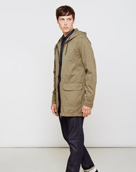 The Idle Man Lightweight Parka Coat Green