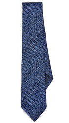 Z Zegna Patterned Tie Navy