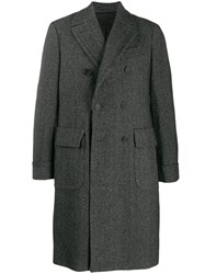 Dell'oglio Herringbone Pattern Coat 60
