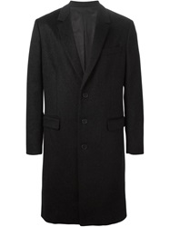 Ami Alexandre Mattiussi Single Breasted Coat Black