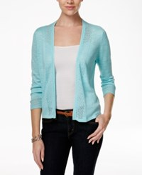 Charter Club Crochet Trim Open Cardigan Only At Macy's Angel Blue