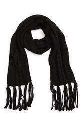 David And Young Women's Cable Knit Scarf Black
