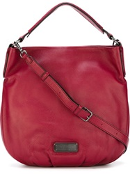 Marc By Marc Jacobs Logo Plaque Hobo Bag Red