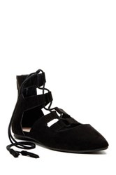 Restricted Java Lace Up Flat Black