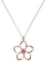 Ted Baker Women's London Crystal Flower Pendant Necklace Pink