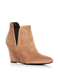 Via Spiga Kenzie Wedge Booties Dark Taupe
