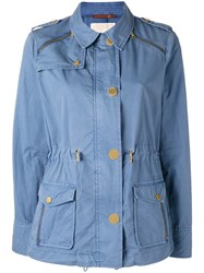 Michael Michael Kors Military Jacket Blue
