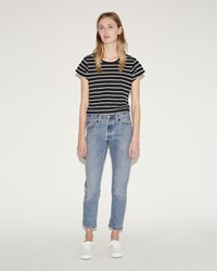 Re Done High Rise Ankle Crop Jeans Blue