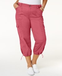 Style And Co Plus Size Capri Cargo Pants Only At Macy's Cream Blush