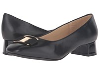 Trotters Louise Black Glazed Kid Leather Women's Shoes
