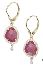 Meira T Women's Meirat Diamond And Semiprecious Stone Drop Earrings Ruby