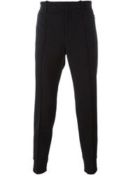 Wooyoungmi Gathered Ankle Trousers Black