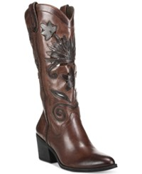 Carlos By Carlos Santana Ace Western Boots Women's Shoes Dark Brown