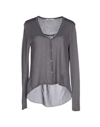 Fairly Knitwear Cardigans Women Grey