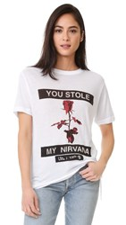 Ksubi Nirvana Rose Sheer Tee White