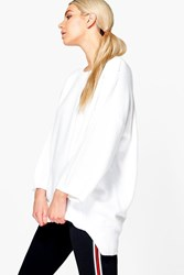 Boohoo Frances Oversized Slouchy Jumper White