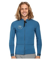 Vissla Front Zip Jacket Long Sleeve 2Mm Neoprene Super Stretch Royal Wash Men's Coat Blue