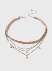 Dorothy Perkins Pink Multi Chain Choker Necklace
