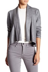 Nydj Coated French Terry Shawl Jacket Petite Gray