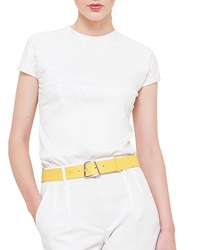 Akris Leather Trapezoid Buckle Belt