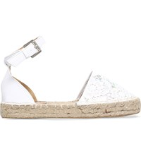 Miss Kg Darlene Embroidered Lace Espadrilles Nude