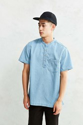 Cpo Denim Short Sleeve Popover Shirt Light Blue