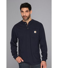 Carhartt Big Tall Workwear Pocket L S Henley Navy Men's Long Sleeve Pullover
