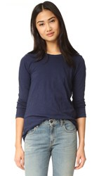 Velvet Lizzie Long Sleeve Top Blue Chip