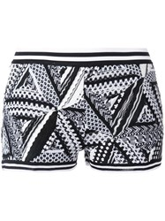 Missoni Geometric Knit Shorts Black