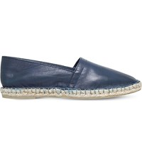 Kg By Kurt Geiger Pedro Leather Espadrilles Navy