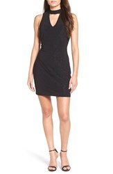 Speechless Women's Keyhole Knit Body Con Dress Black