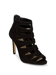 Saks Fifth Avenue Florynce Leather Cutout Ankle Booties Black