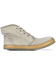 A Diciannoveventitre S3 Hi Top Sneakers Horse Leather Leather Rubber Grey