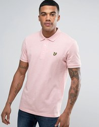Lyle And Scott Pique Polo Regular Fit Eagle Logo In Pink Marl Pink Marl