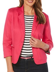 Rafaella Textured Notch Lapel Jacket Pink
