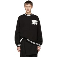 D.Gnak By Kang.D Black Pin Skull Sweatshirt