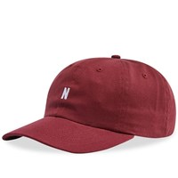 Norse Projects Twill Sports Cap Burgundy