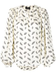 Isabel Marant Wheat Print Blouse Neutrals