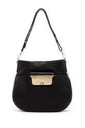 Milly Isabella Pebble Leather Hobo Bag Black