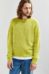 Urban Outfitters Uo Classic Twist Crew Neck Sweater Yellow