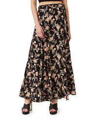 Miss Selfridge Floral Print Wrap Maxi Skirt Multi