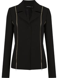 Gloria Coelho Zip Detail Blazer Black