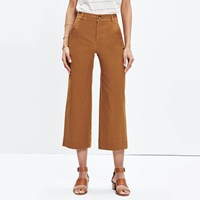 Madewell Langford Wide Leg Crop Pants Tropical Coral