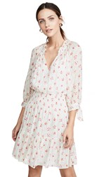 Rebecca Taylor Long Sleeve Maui Clip Dress Snow Combo